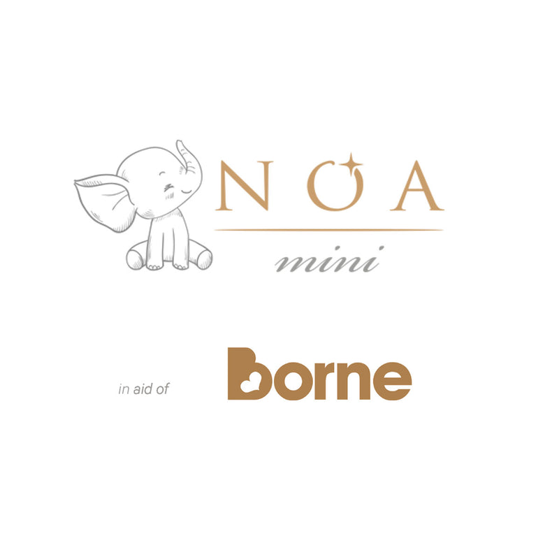 10% of profits from the sale of all our NOA mini jewellery are donated to Borne, a charity working to identify causes of premature birth.