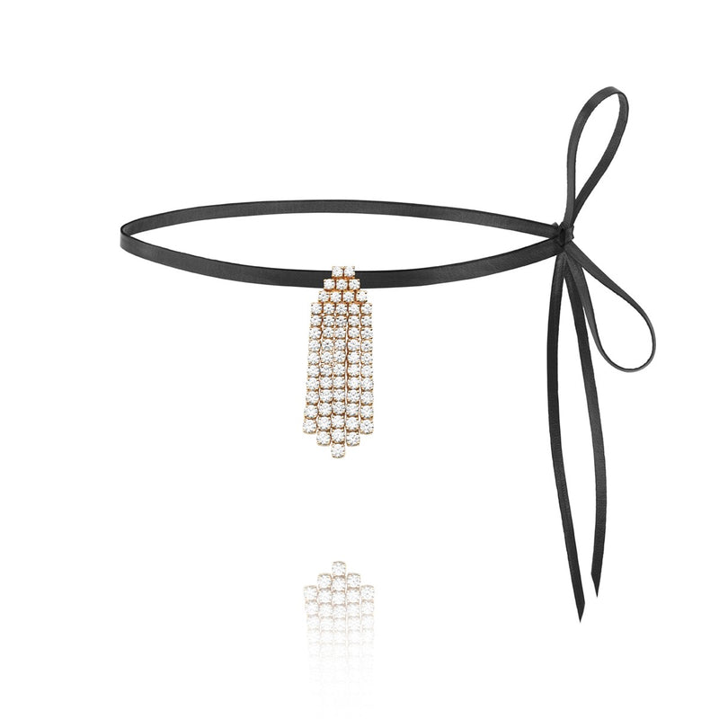 Diamond Ray white diamond choker