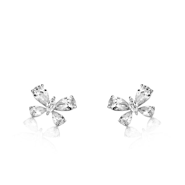 Diamond butterfly earrings in 18 karat white gold from NOA fine jewellery