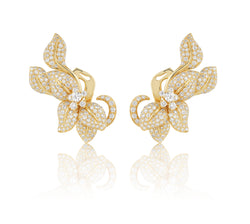 Fleur De Lis Earrings, Giallo