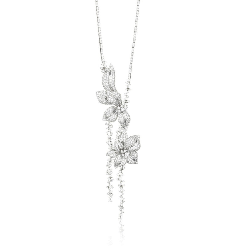 Fleur de Lis Collier with white diamonds from NOA fine jewellery