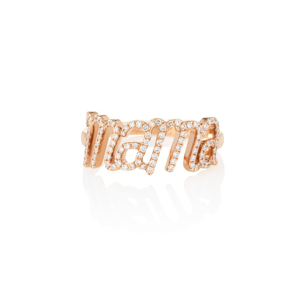 Mama Diamond Ring Rose Gold