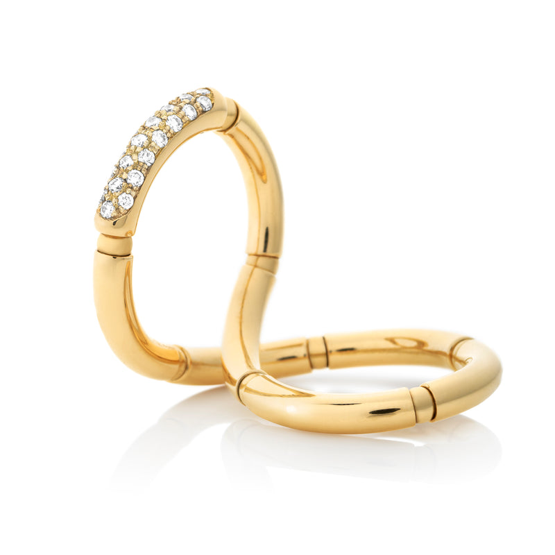 d'Oro Diamond Twist Ring, Yellow Gold from NOA fine jewellery