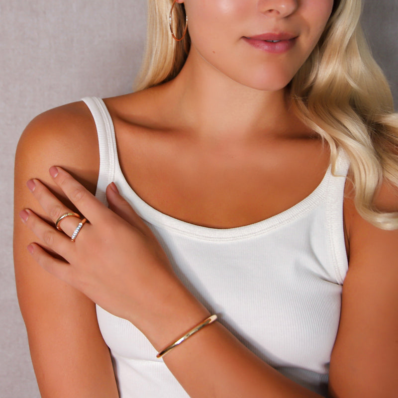 d'Oro Hoops, Small, Rose Gold from NOA fine jewellery