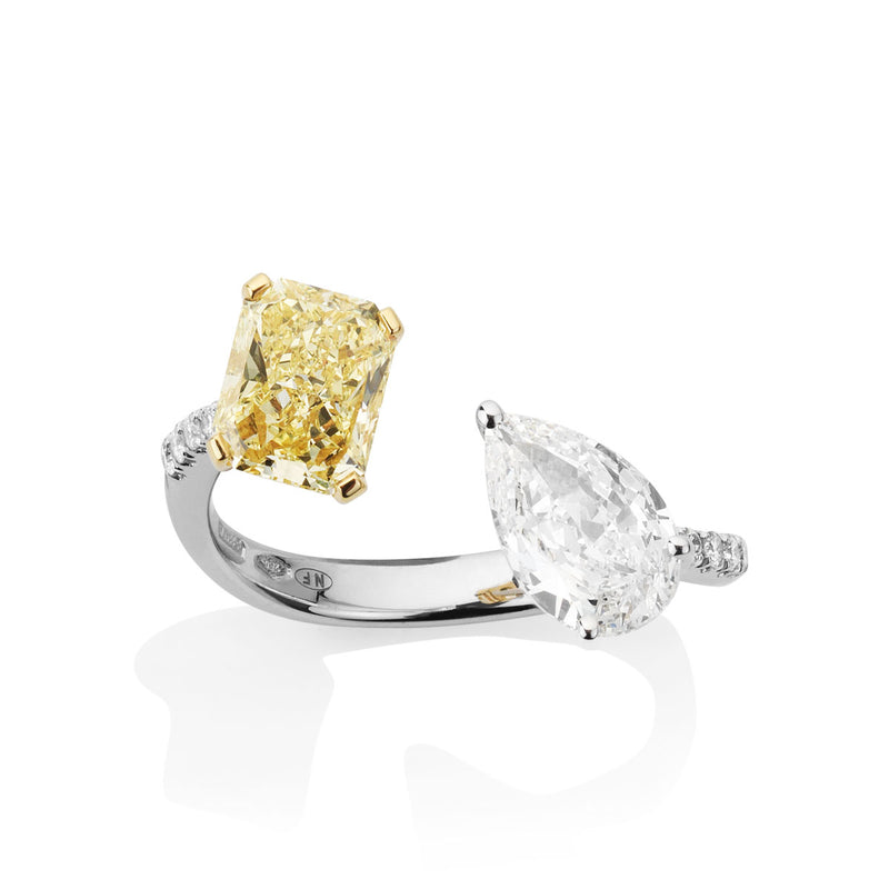 Toi et Moi Yellow Diamond Ring from NOA fine jewellery