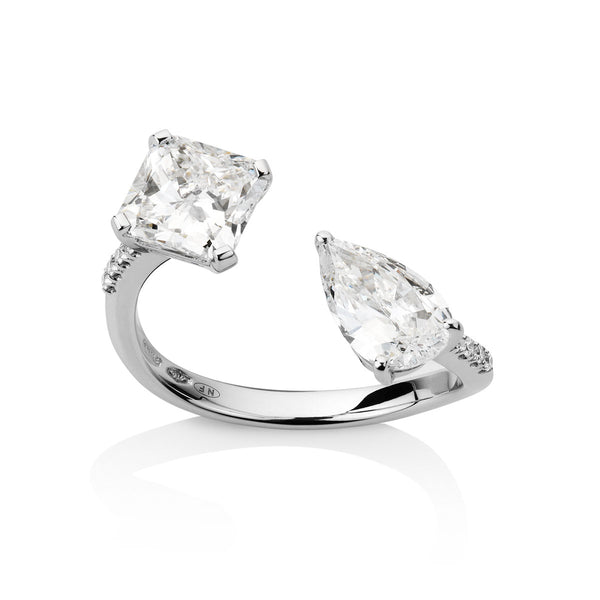 Toi et Moi White Diamond Ring from NOA fine jewellery