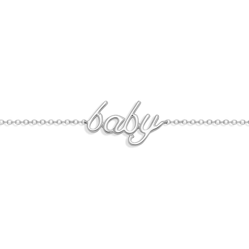 Baby Bracelet White Gold from NOA mini perfect Christening gift