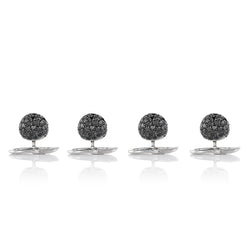 Black Diamond and 18 Karat White Gold Dinner Shirt Buttons from NOA fine jewellery