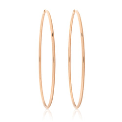 d'Oro Hoops, Rose Gold