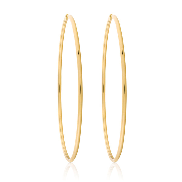 d'Oro large yellow gold hoops from NOA fine jewellery