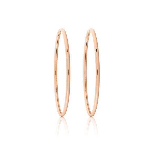 d'Oro Hoops, Small, Rose Gold