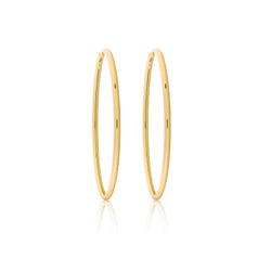 d'Oro Hoops, Small, Yellow Gold