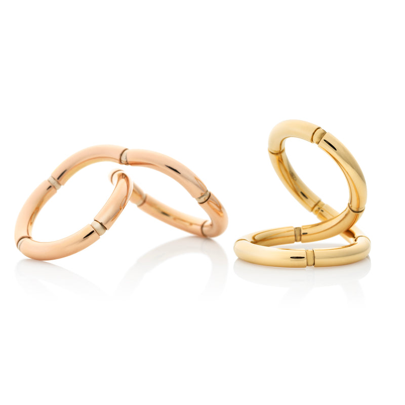 Rose and yellow gold ring with flexible gold from NOA fine jewellery