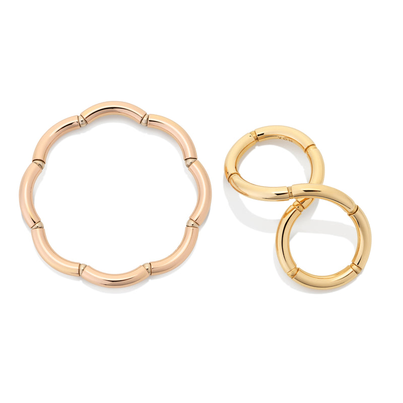 Flexible gold rings from NOA fine jewellery