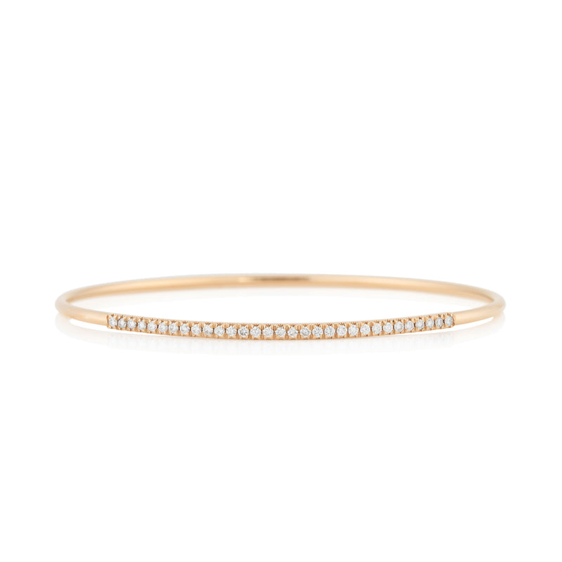 NOA fine jewellery d'Oro Pave Bangle, Rose Gold