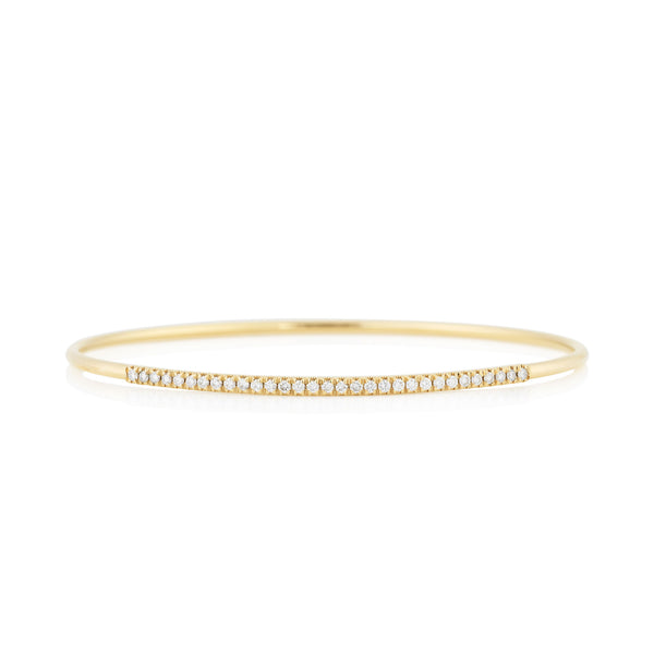 NOA fine jewellery d'Oro Pave Bangle, Yellow Gold