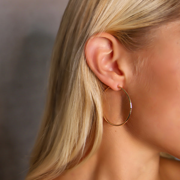d'Oro Hoops Small in 18 karat Rose Gold