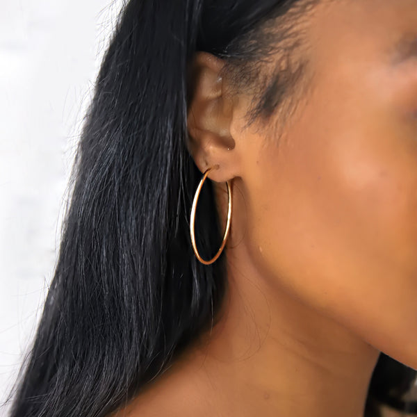 d'Oro Hoops, Small, Yellow Gold from NOA fine jewellery