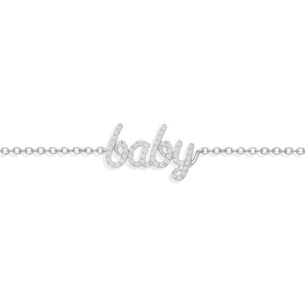 Diamond Baby Bracelet in White Gold from NOA mini