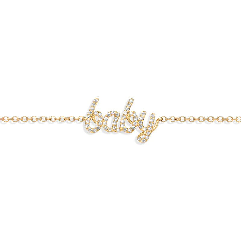 Diamond Baby Bracelet Yellow Gold from NOA mini