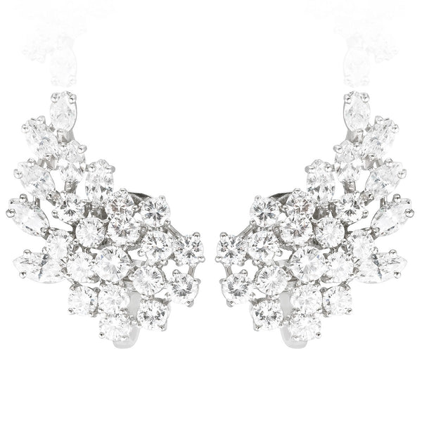 Diamond Cluster Earrings from NOA Icons