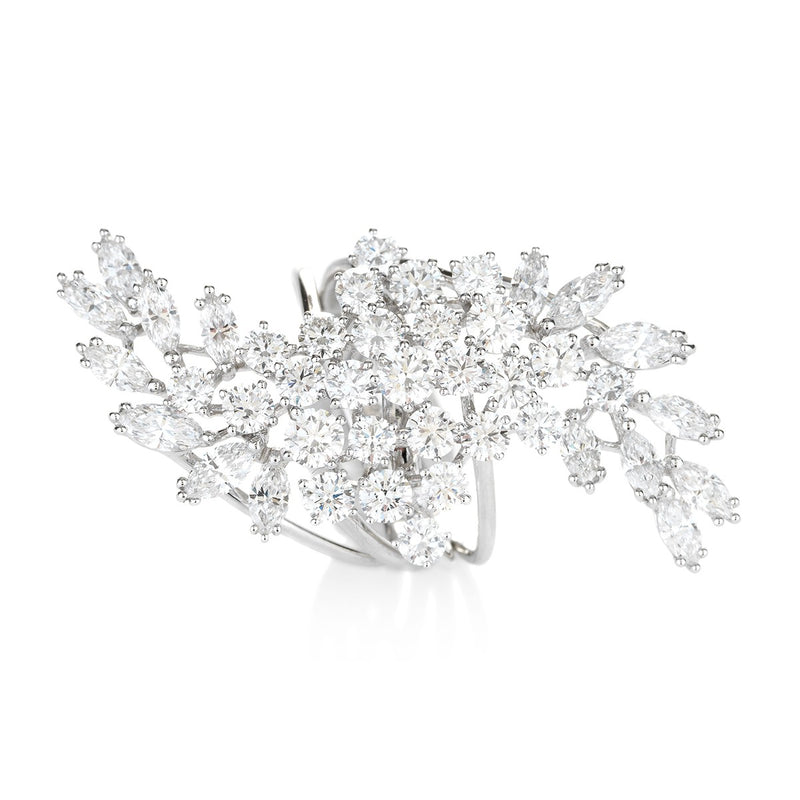 Diamond Cluster Ring with marquise and round diamonds from NOA Icons