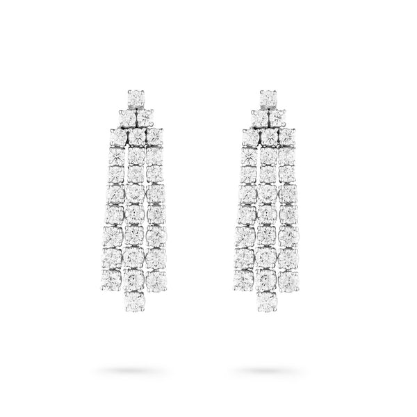 Diamond Ray Mini Diamond Earrings in white gold
