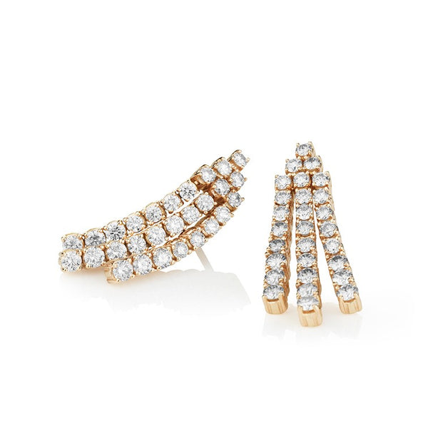 Diamond Ray Mini Diamond Earrings in rose gold