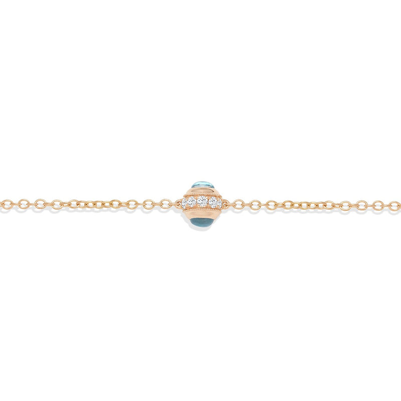Child's fine jewellery bracelet with the Evil Eye Mini Bracelet in Rose Gold from NOA mini