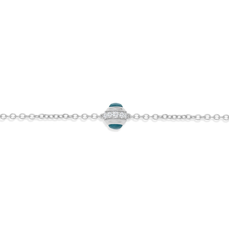 NOA mini Evil Eye Mini Bracelet White Gold the perfect jewellery gift for a baby