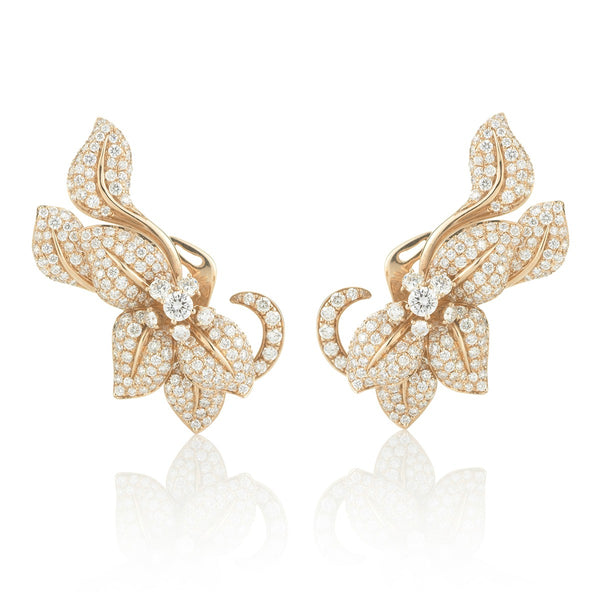 Fleur De Lis Earrings, Rosa