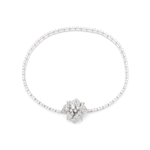 Fleur de Lis diamond and white gold bracelet from NOA fine jewellery