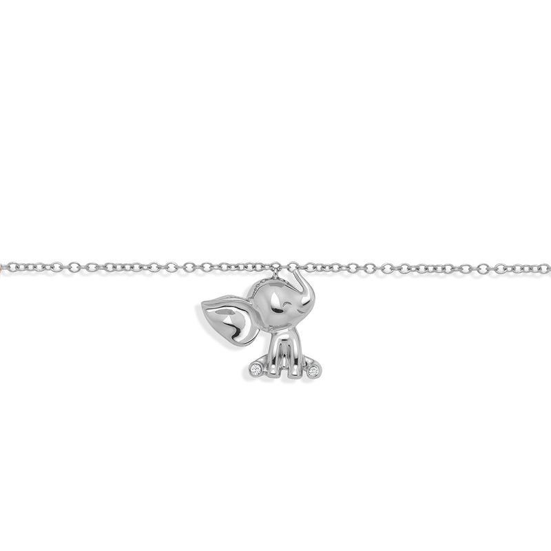 Fine jewellery baby gift our Elephant Bracelet White Gold from NOA mini