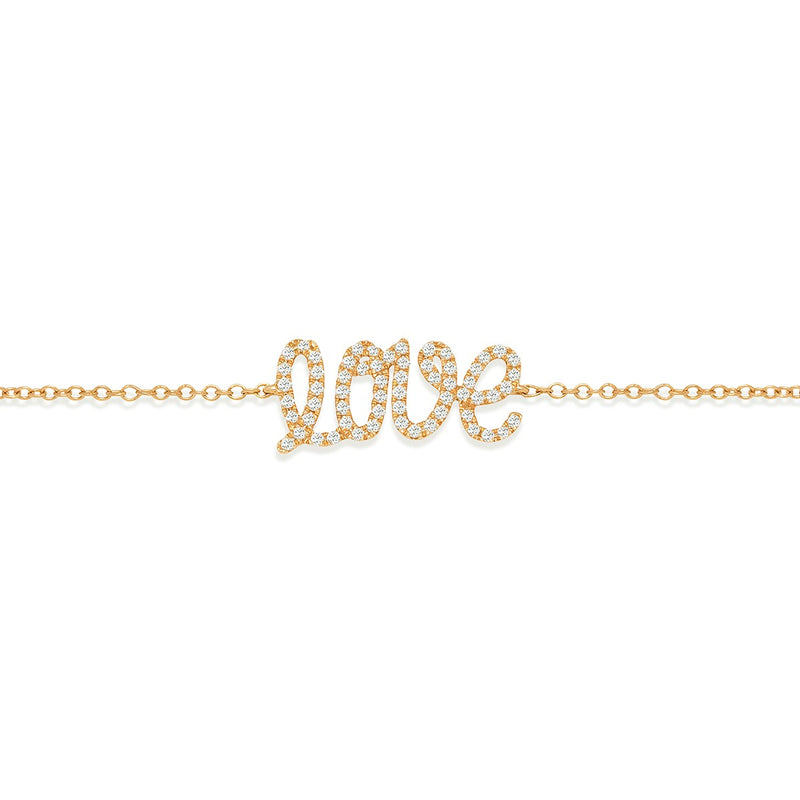 Love Bracelet yellow gold and white diamonds from NOA mini