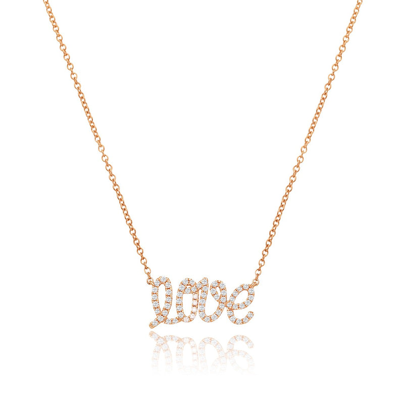 Love Pendant in rose gold and white diamonds from NOA mini