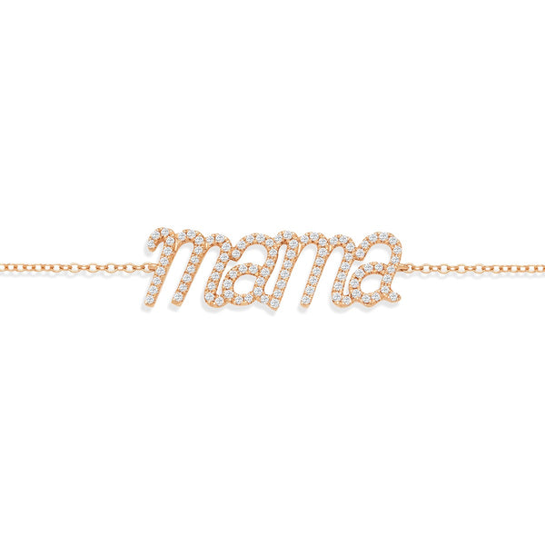 NOA mini Mama Bracelet 18 karat rose gold and white diamonds