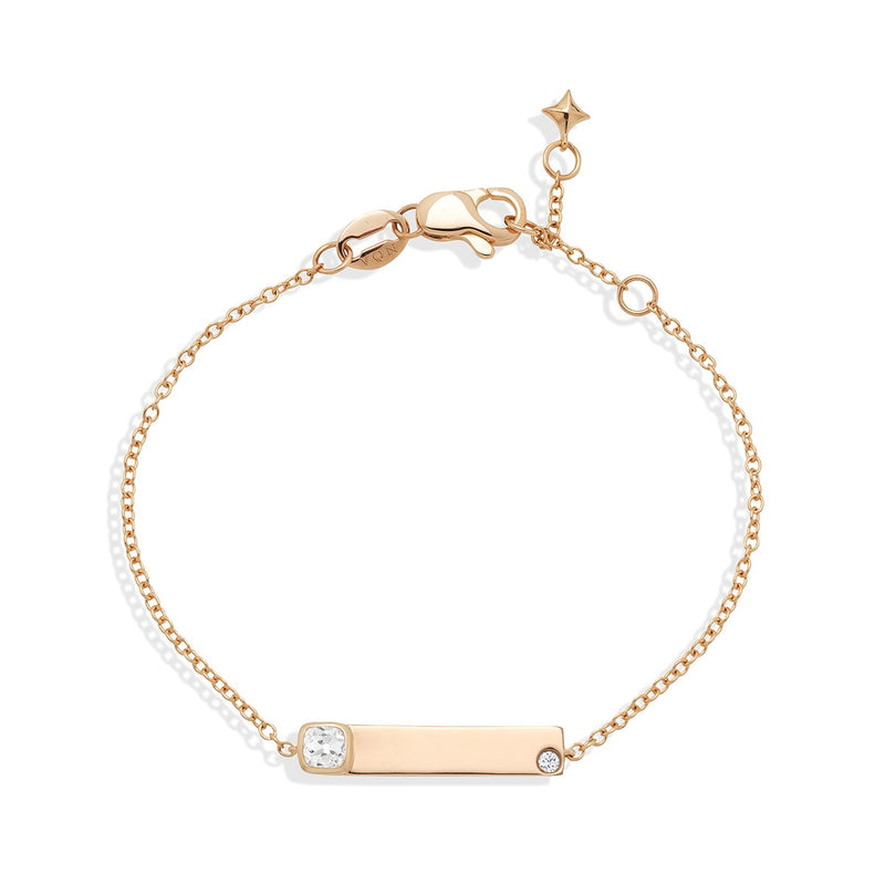 Name Bracelet Rose Gold from NOA mini personalised fine jewellery