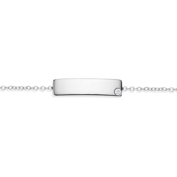 NOA mini personalised name bracelet in 18 karat white gold