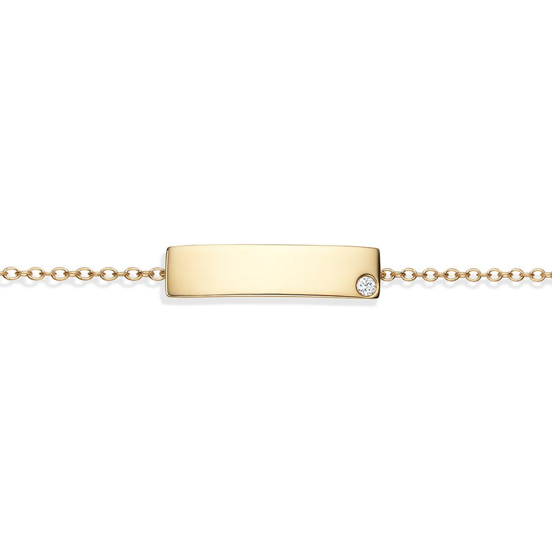 Name Bracelet Yellow Gold