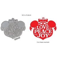Disney - Cutting Dies - Vintage Love Peace & Joy