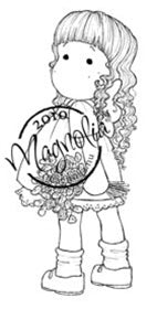 Magnolia Stamps - Wedding Collection - Tilda With Curls #271