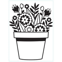Darice - Embossing Folder - Flowers In Pot