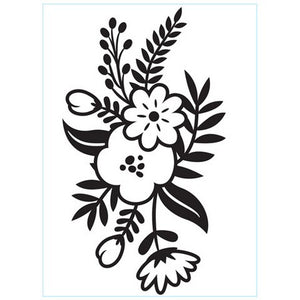 Darice - Embossing Folder - Small Floral Sprig