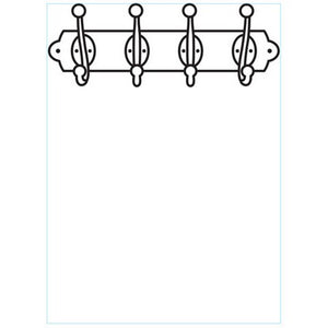 Darice - Embossing Folder - Coat Rack