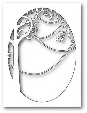 Poppystamps - Dies - Jungle Vine Oval