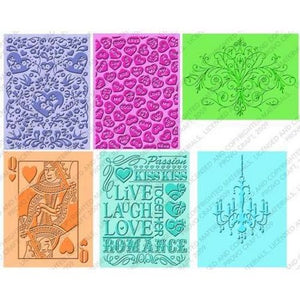 Closeout - Cuttlebug - Embossing Folders  - Love Is In The Air (6pcs)