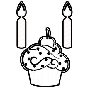 Darice - Dies - Cupcake &  Candles