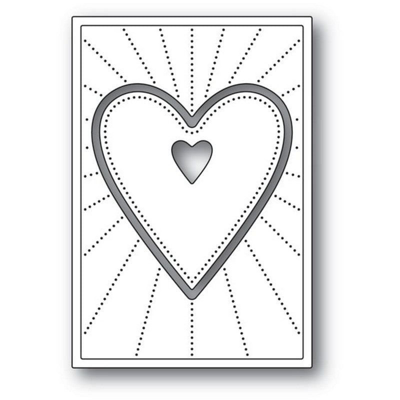 Poppystamps - Dies - Deco Shining Heart