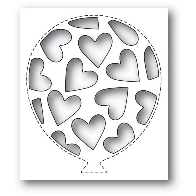 Poppystamps - Dies - Tumbled Heart Balloon Collage