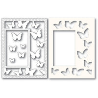Poppystamps - Dies - Beautiful Butterflies Sidekick Frame and Stencil